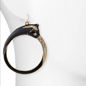 Nakamol panther hoop earrings